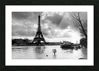 Eiffel tower flood Impression et Cadre photo