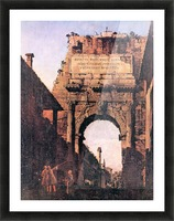 Titus Arch in Rome by Canaletto Picture Frame print
