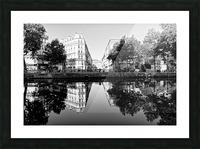 Canal Saint Martin reflection Impression et Cadre photo