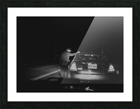 Late Night Traffic Stop Picture Frame print