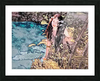 FAIRY AND THE LAKE - Art-Photo  2-4 Picture Frame print