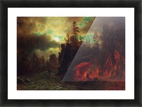 Trapper s camp by Bierstadt Picture Frame print