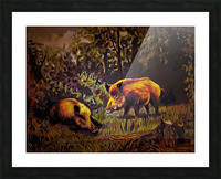 Wild Boars Picture Frame print
