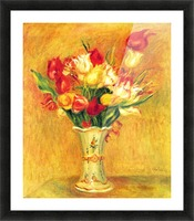 Tulips in a Vase Picture Frame print