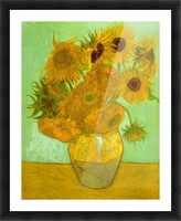 Twelve Sunflowers by Van Gogh Picture Frame print