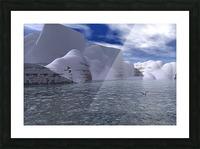 citadelle de glace Picture Frame print