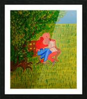 les amoureux Picture Frame print