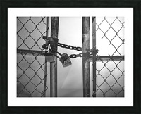Fog Behind The Gate Picture Frame print