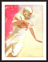 1963 Running Back Vintage Gridiron Wall Art Picture Frame print