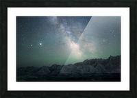 Milky Way Above The Badlands Picture Frame print