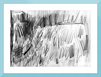 Lawn sketch Picture Frame print