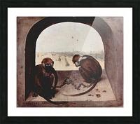 Two monkeys by Pieter Bruegel Picture Frame print