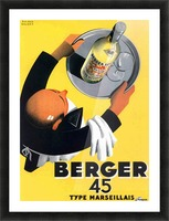 Berger 45 Poster Ad Roland Ansieau 1935 Picture Frame print