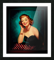 Evening Glamour Girl by Art Frahm Glamour Pin-up Vintage Art Picture Frame print