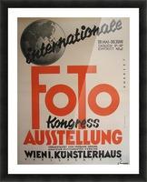 1930 Art Deco Vienna Austria Photography Exhibit Vintage Poster Picture Frame print