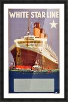 Original Vintage 1920 Travel Advertising Poster For White Star Line Cruises Picture Frame print