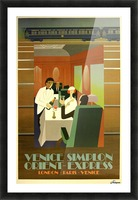 Travel Art Deco Style Poster - Venice Simplon Orient Express Railway Picture Frame print