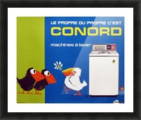 Original Appliance Poster, Conord Birds, 1960 Picture Frame print