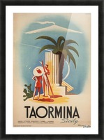 Taormina, Sicily Vintage Italian Travel Print Picture Frame print
