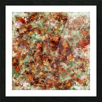Submerged leaves Picture Frame print