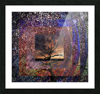 Tree Layers 4 Picture Frame print