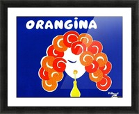 Bernard Villemont Orangina Advertising Poster Picture Frame print