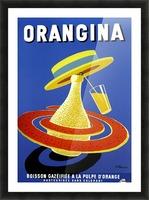 Orangina Vintage Poster Picture Frame print