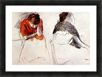 Two women seated by Degas Picture Frame print