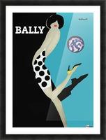 Vintage Bally Poster Giclee Print Aqua Blue Picture Frame print