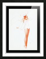I Know What He Wants for Fathers Day by George Petty Pin-up Girl Vintage Art Picture Frame print
