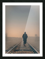Back Walking Away Picture Frame print