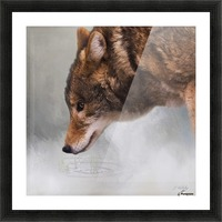 Time To Breathe - Wolf Art by Jordan Blackstone Picture Frame print