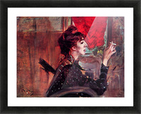 The red curtain by Giovanni Boldini Picture Frame print
