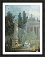 Young Girl Seated Near The Love Temple Picture Frame print