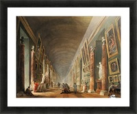 Painters in a visit at Louvre. 1790 Picture Frame print