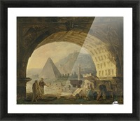 View of antiquities under an arch Picture Frame print