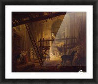 Stable in Ruins of Villa Giulia Picture Frame print