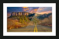Route des Failles - La crevasse Picture Frame print