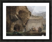 Washerwomen in the Ruins of the Colosseum Picture Frame print