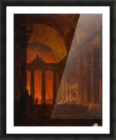 Fire in Rome Picture Frame print