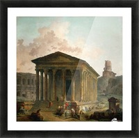 Antic ruins with figures Picture Frame print