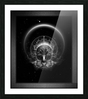 Gothic Skull Blaze Abstract Digital Art Composition Picture Frame print
