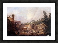 Fountain on a Palace Terrace Picture Frame print
