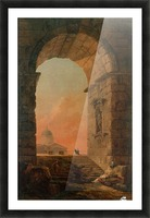 Landscape with an Arch and The Dome of Saint Peter Church in Rome Picture Frame print
