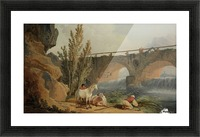 Bridge over a Cascade Picture Frame print