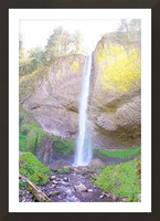 Majestic Falls in the Gorge   Columbia River Oregon Picture Frame print