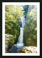 Falls in The Gorge 2   Columbia River Oregon Picture Frame print