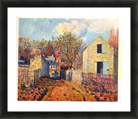 Village of Voisins (now part of Louveciennes) by Sisley Picture Frame print