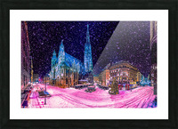 Christmas in Vienna Picture Frame print