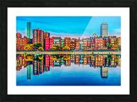 Boston Back Bay reflection Picture Frame print